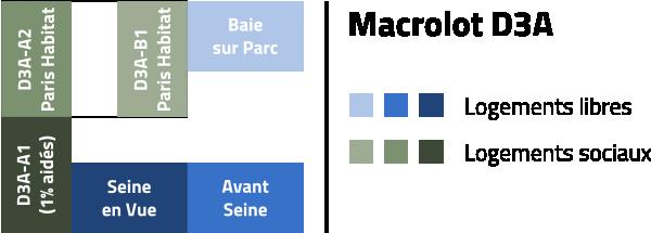 Plan du trapèze / nom des résidences et des rues D3a